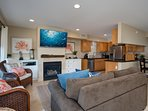 Relax in this welcoming living room. Sleeper sofa can sleep 2.