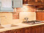 The kitchen was recently refurbished and is large