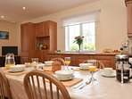 Wonderful open plan kitchen/ dining and seating area