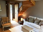 Stylish interiors throughout the cottage