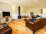 Lounge with woodburner perfect for those cooler evenings