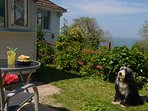 Glorious sea views from the enclosed garden and patio