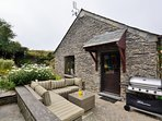 Enjoy a barbeque in the cottage garden