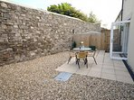Secure,private enclosed suntrap rear courtyard
