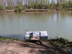 The dock is for your party only - bring your fishing poles!