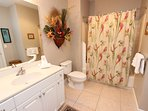 Guest bathroom with tub & shower combo