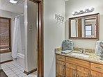 Wash off in the en-suite bath.