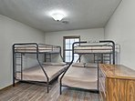Kids will love sharing these bunk beds.
