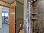Freshen up in this luxury walk-in shower.