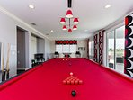 No expense was spared with this custom slate billiards table