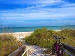 On Sanibel boardwalks meet our natural sugar sand beaches.