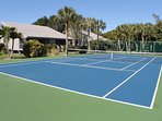 Our newly resurfaced tennis and pickle ball courts