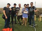 Film crew last day