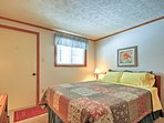 The second bedroom also offers a comfortable queen mattress.