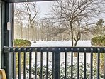 Enjoy the beautiful forested scenery surrounding the condo.