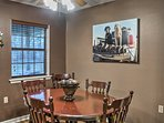Gather around the dining room table for a home-cooked meal.