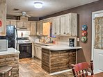 Enjoy peace and quiet during your stay at this 3-bed, 2-bath home.