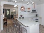 Savor quick meals at the 3-person breakfast bar!