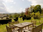 Garden with plenty of room to enjoy the rolling countryside