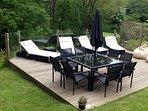 Decked area with garden furniture