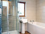 New Stylish bathroom with separate shower and bath
