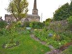 Beautiful mature walled gardens