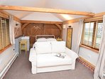 Annexe with King-size bed and river views