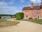 View towards the property in Bucklers Hard