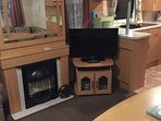 Living Room with TV/DVD combi and gas fire