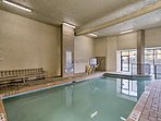 The indoor pool is perfect for a cooler day!