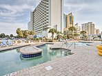 Amenities abound at this beachfront vacation rental condo!