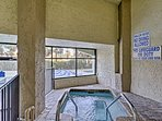 Relax after a workout in the indoor hot tub.