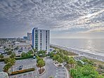 The unit offers ocean views from the balcony and sleeps 4.
