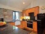 Kitchen area with SMEG fridge