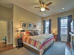 Relax on the sumptuous king mattress in the master bedroom.