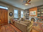 Step onto the hardwood floors and smile at the remodeled interior.