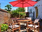 Attractive shared outside seating area