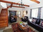 Lounge with underfloor heating