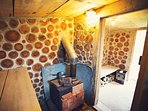 Cosy,quirky wood-fired sauna in the garden