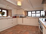 Beautifully presented kitchen area