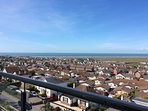 View across Westward Ho from the decking