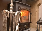 Cosy wood burner perfect for winter escapes