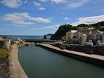 Charlestown harbour within walking distance