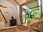 Sit back and enjoy the views from this cosy hut