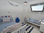 Beautifully decorated twin bedroom
