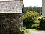 The apartment is on a little lane that leads up to Tarn Hows