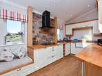 Wonderful kitchen with window seating to enjoy the lovely country views