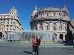 Ospiti canadesi che ci hanno regalato questa immagine. loro due a Genova.
