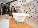 Enjoy a bubble bath after a day of exploring