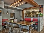 Enjoy the sleek style and awesome cuisine at Cahilty Creek Bar and Grill